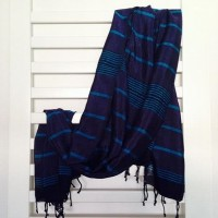 Indigo Silk Towel/Pareo