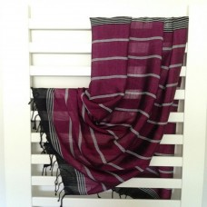 Magenta Silk Towel/Pareo