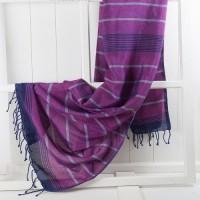 Violet Silk Towel/Pareo